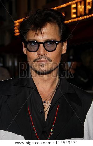 DISNEYLAND, CALIFORNIA - May 7, 2011. Johnny Depp at the World premiere of