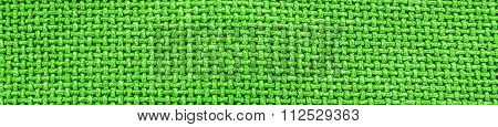 Green Woven Material / Textile / Fabric Background Texture - Panorama / Header.