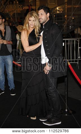 DISNEYLAND, CALIFORNIA - May 7, 2011. Kirstie Alley and Maksim Chmerkovskiy at the World premiere of