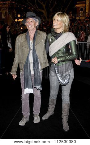 DISNEYLAND, CALIFORNIA - May 7, 2011. Keith Richards at the World premiere of