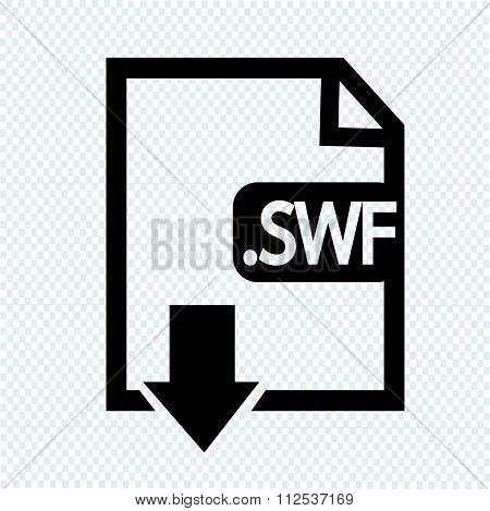 an images of Image File type Format SWF icon