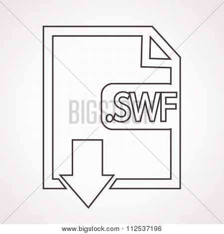 Image File Type Format Swf Icon