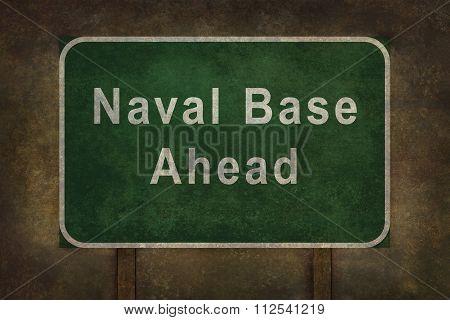 Naval Base roadside sign illustration