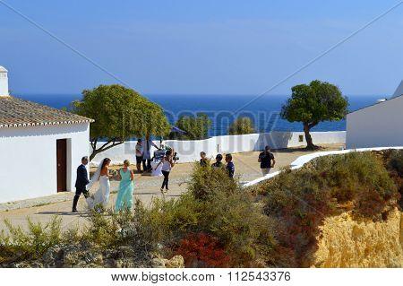 A romantic wedding ceremony in the sun