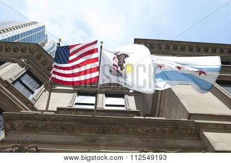 Flags on Auditorium