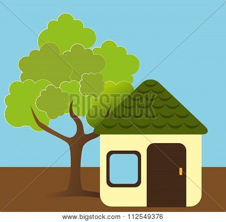 Green real estate house