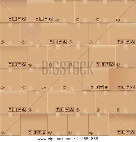 Cardboard Boxes Seamless