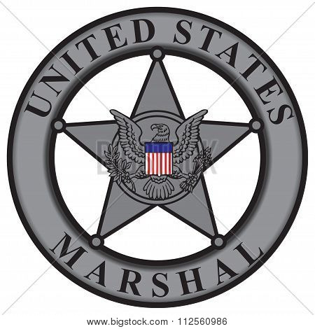 Classic Badge United States Marshal