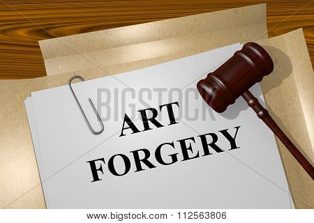 Art Forgery Concept