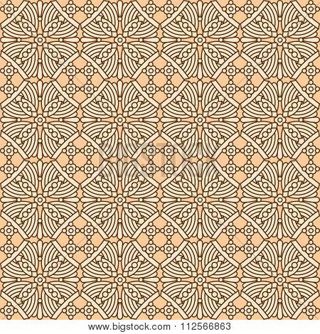 Seamless vintage flat colors pattern