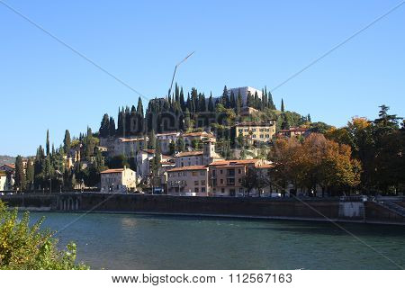 River Adige and the hill of San Pietro in Verona