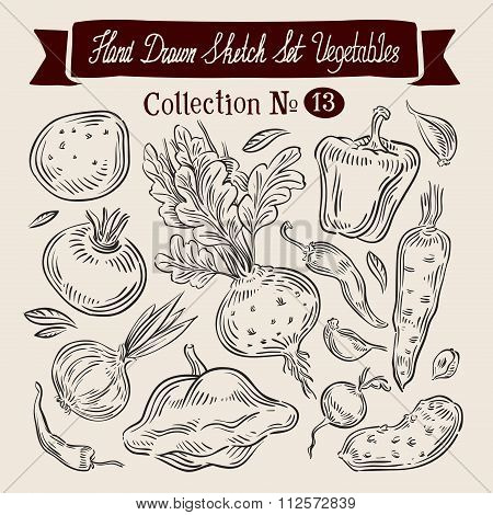 vegetables vector logo design template. harvest, food or farm, gardening icons