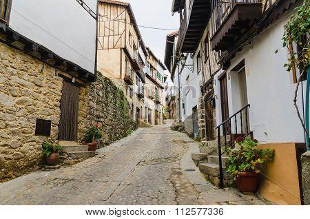 Typical Street Of Mogarraz