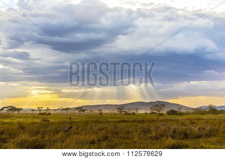 Beautiful and dramatic african landscape