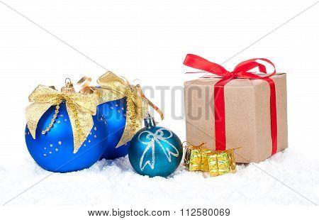 Christmas Balls And Christmas Gift
