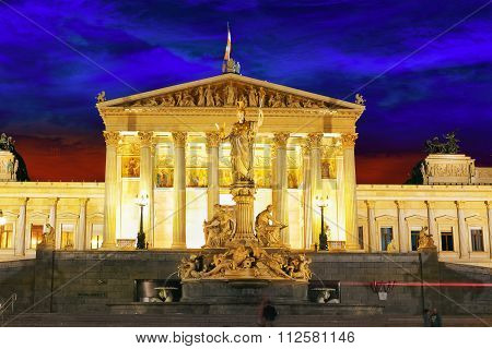 Palace Of Justice,vienna.neo-renaissance Building Erected From 1875 To 1881 Is Located In The Austri