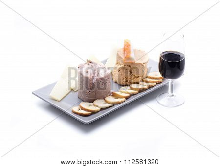 Pates With Wine