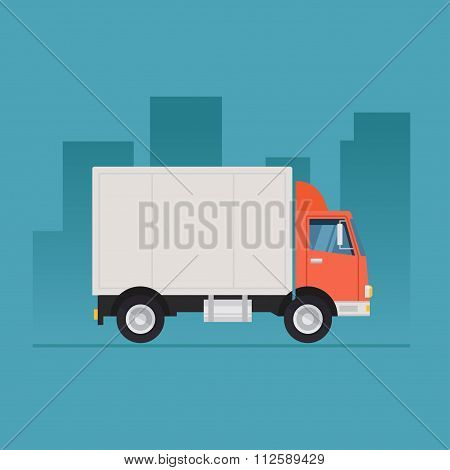 Truck vector illustration flat