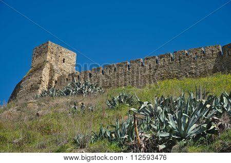 Castle Wall In Mertola