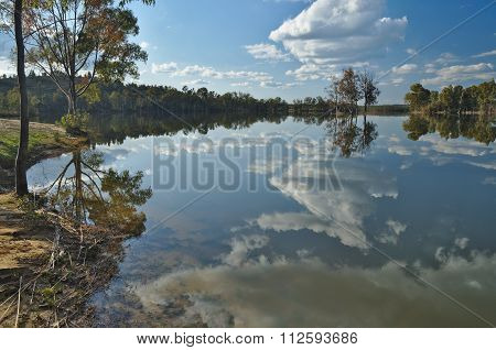 Sky Reflections By The Lake