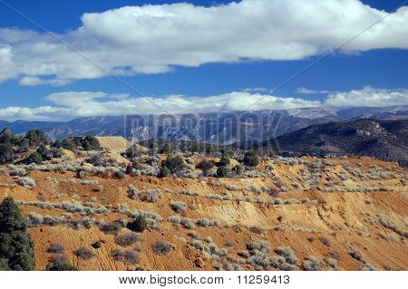 Nevada high desert Ruth Ely mountains with coppermine in the background poster