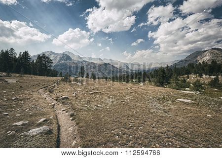 Hiking Trail In The Sierra Nevada Mountains