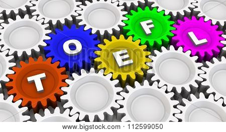 TOEFL. Abbreviation on the gears
