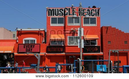 Painted Walls Of Venice Beach, In Los Angeles, Califonia, Usa