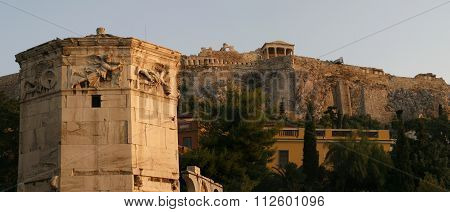 monument in the city of Athens. ancient architecture