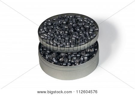 Round Metall Box With Pneumatic Bullets