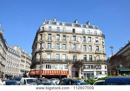 PARIS, FRANCE - SEPTEMBER 10, 2014: Paris - d'Estienne d'Orves Square. Typical parisian architecture