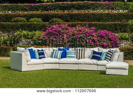Outdoor Sofa In The Garden