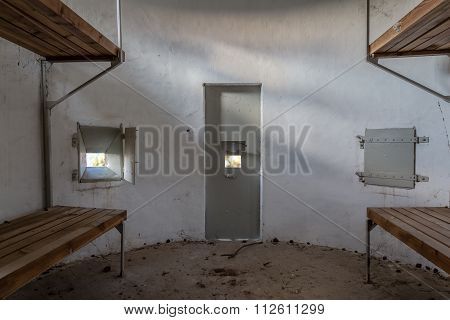 Interior of an old pillbox