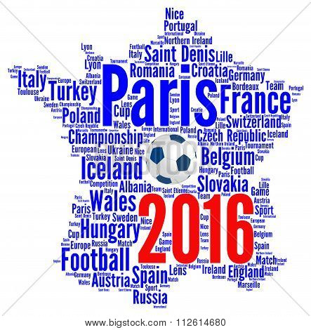 France 2016 football illustration