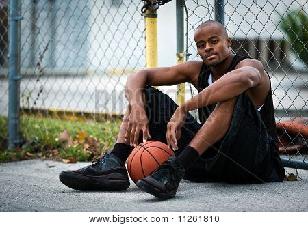 Basketball Player In The Street
