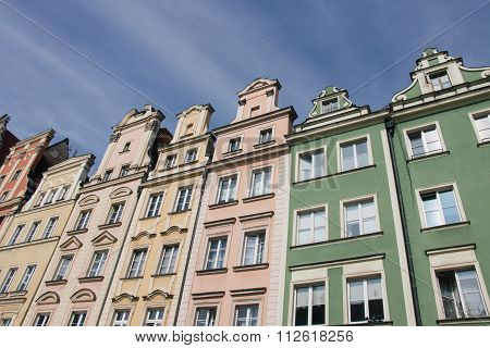 Houses On Market Square Rynek In Wroclaw, Poland