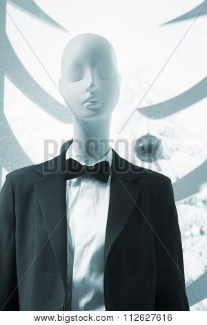 Shop Dummy In Evening Suit And Bow Tie