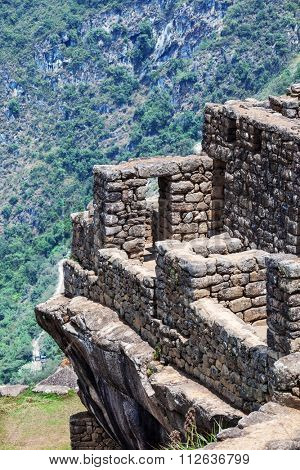 city Macchu Picchu on the background of mountains