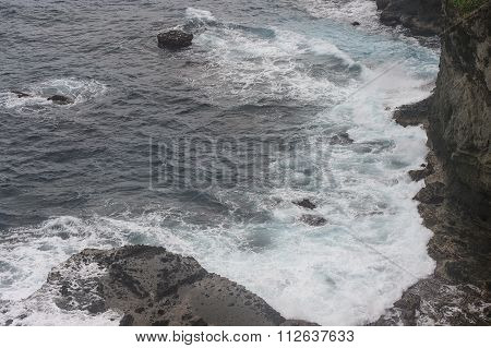 The wave and rock formation in Batanes Island, Phillipines.