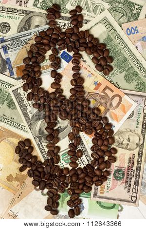 coffee and money