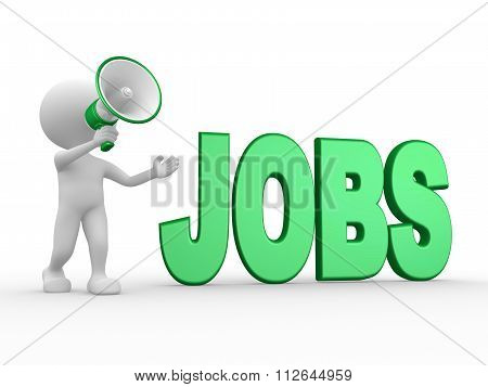 Megaphone And Word Jobs
