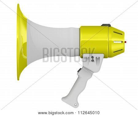 Megaphon. Electric horn