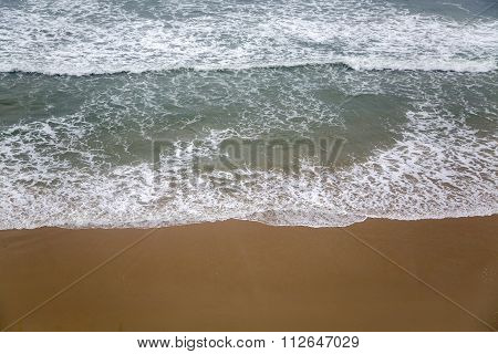 Varkala beach with waves in Kerala state India