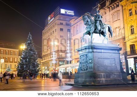 Statue Of Ban Josip Jelacic