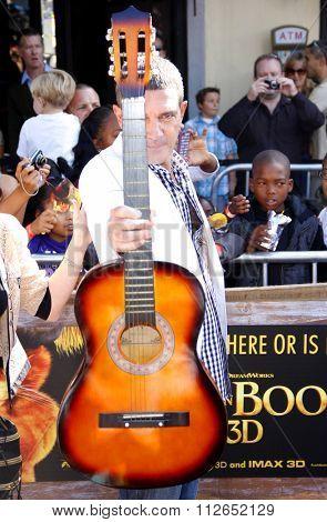 WESTWOOD, CALIFORNIA - October 23, 2011. Antonio Banderas at the Los Angeles premiere of