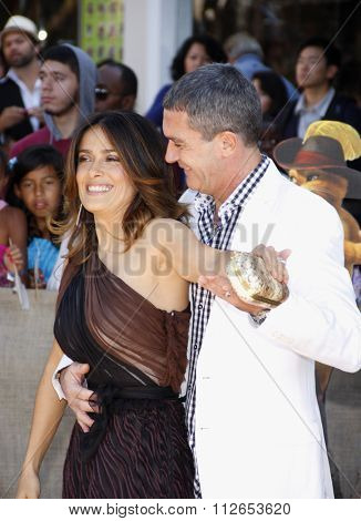 Salma Hayek and Antonio Banderas at the Los Angeles Premiere of