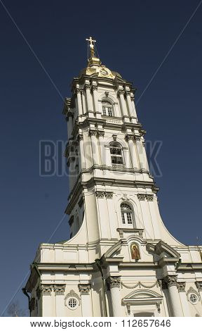 Classic exterior of the Orthodox Church Ukraine Pochaiv poster