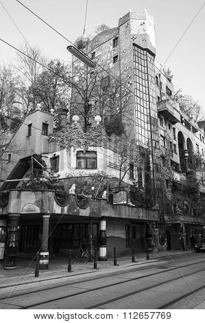 Street View With Hundertwasser House, Vienna