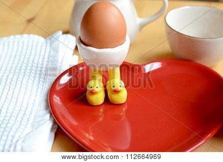 Breakfast boiled egg