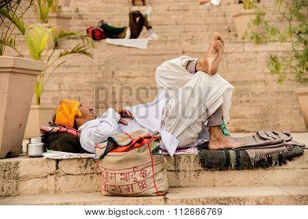 Sleeping In Varanasi